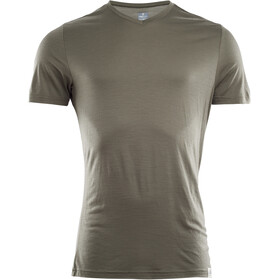 Aclima LightWool V-Neck T-Shirt Men ranger green